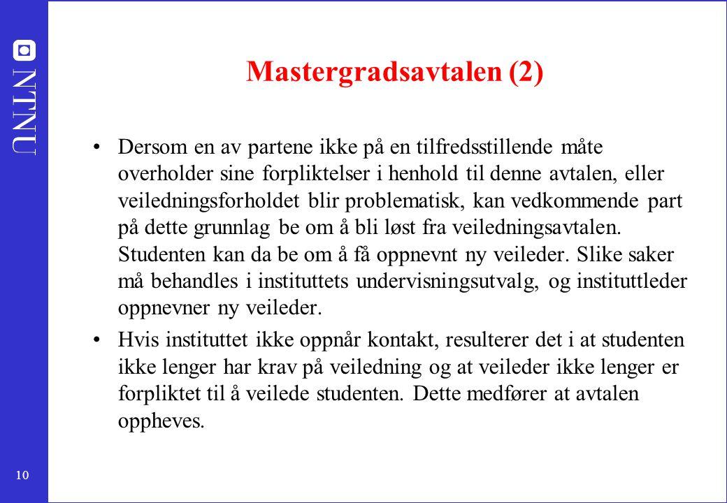 Mastergradsavtalen (2)