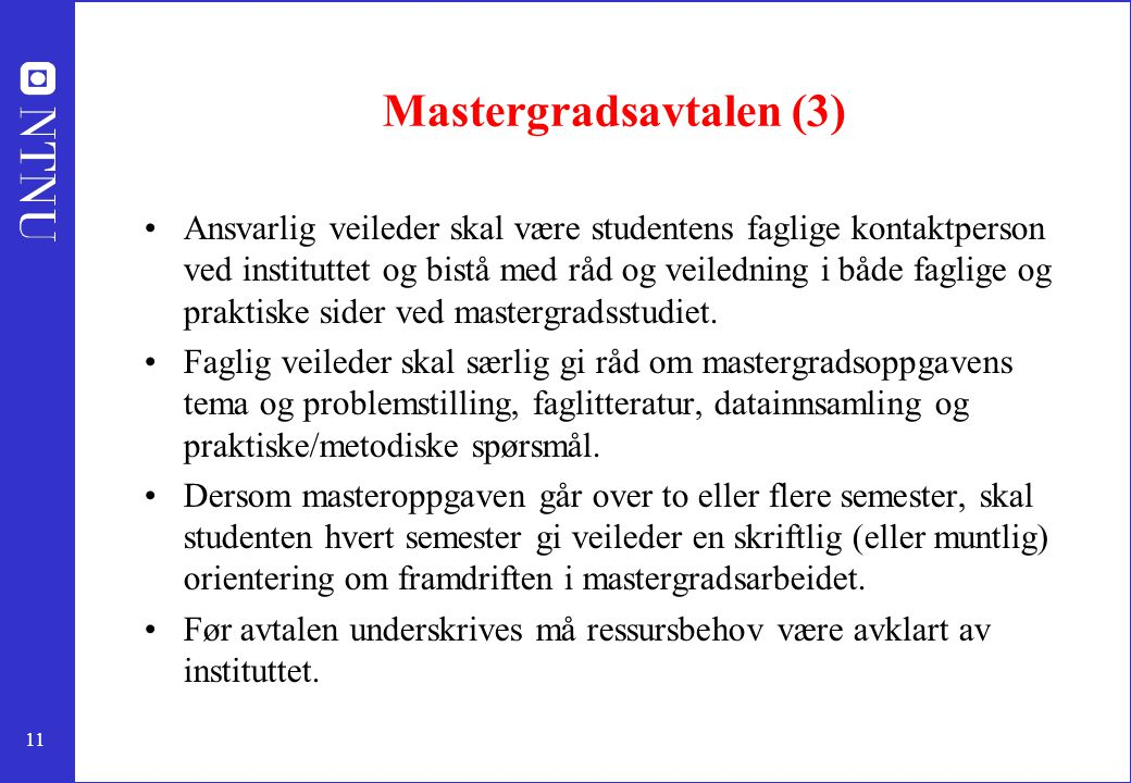 Mastergradsavtalen (3)