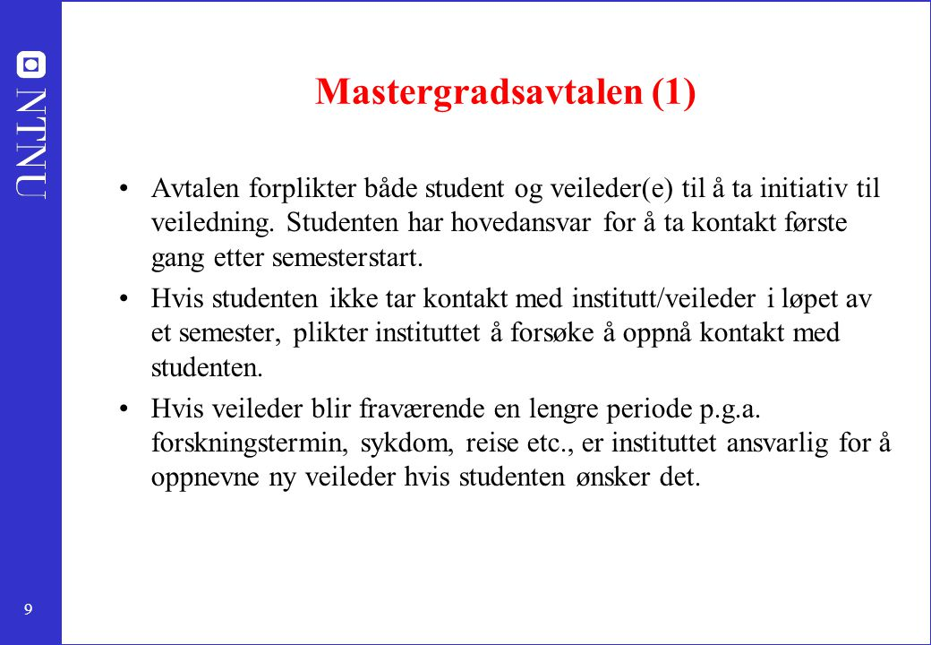 Mastergradsavtalen (1)