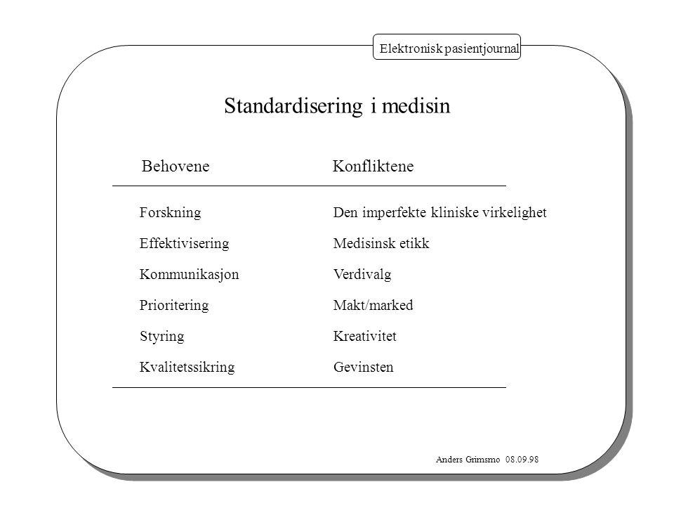 Standardisering i medisin