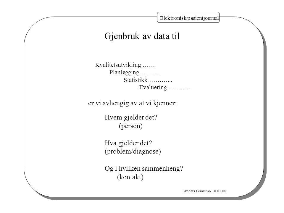 Gjenbruk av data til er vi avhengig av at vi kjenner: