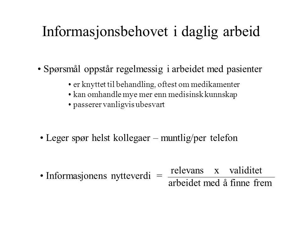 Informasjonsbehovet i daglig arbeid