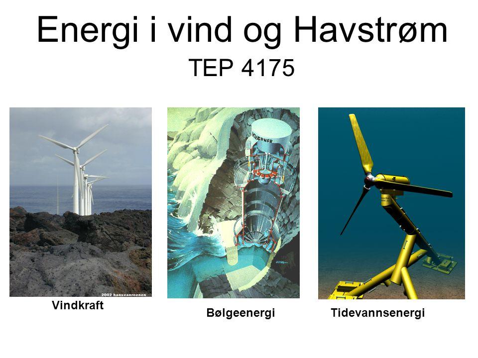 Energi i vind og Havstrøm TEP 4175