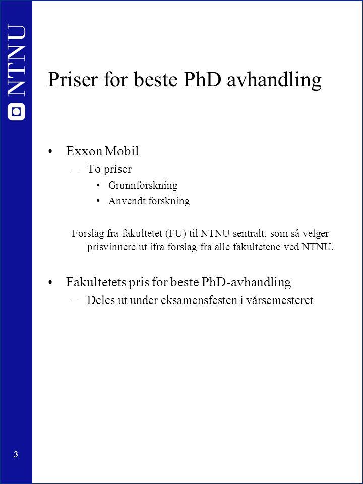 Priser for beste PhD avhandling