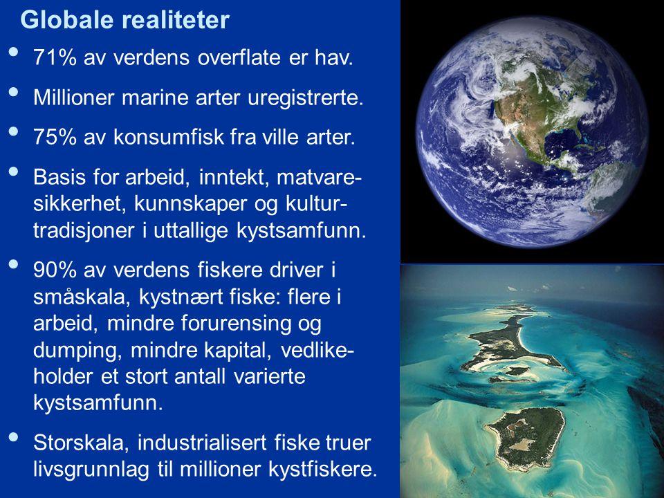 Globale realiteter 71% av verdens overflate er hav.