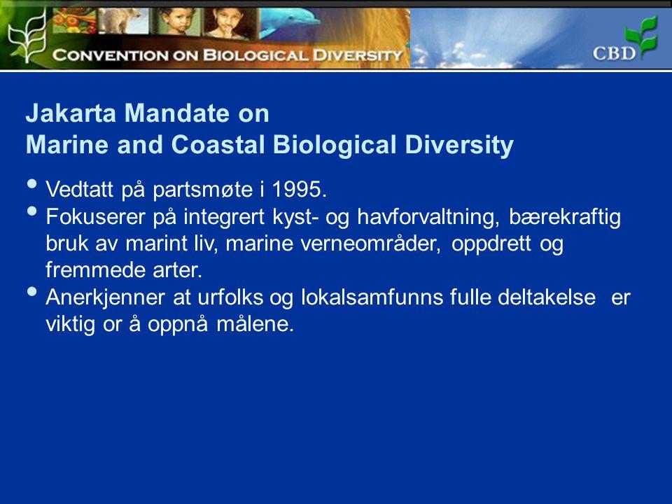 Marine and Coastal Biological Diversity