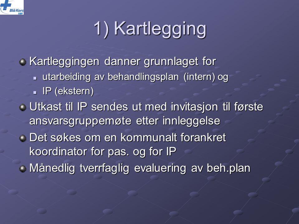 1) Kartlegging Kartleggingen danner grunnlaget for