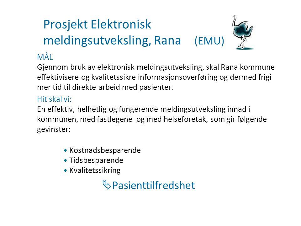 Prosjekt Elektronisk meldingsutveksling, Rana (EMU)