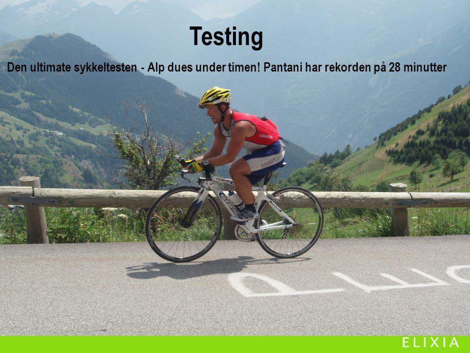 Testing Testing. Den ultimate sykkeltesten - Alp dues under timen.