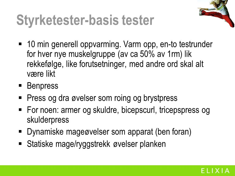 Styrketester-basis tester