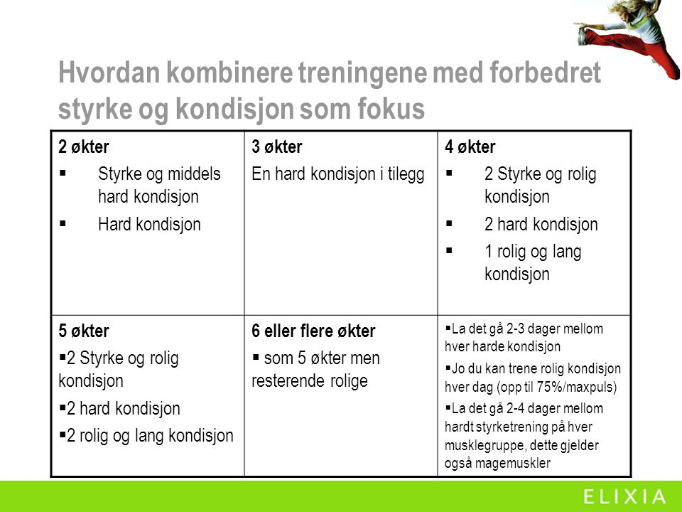Hvordan kombinere treningene med forbedret styrke og kondisjon som fokus
