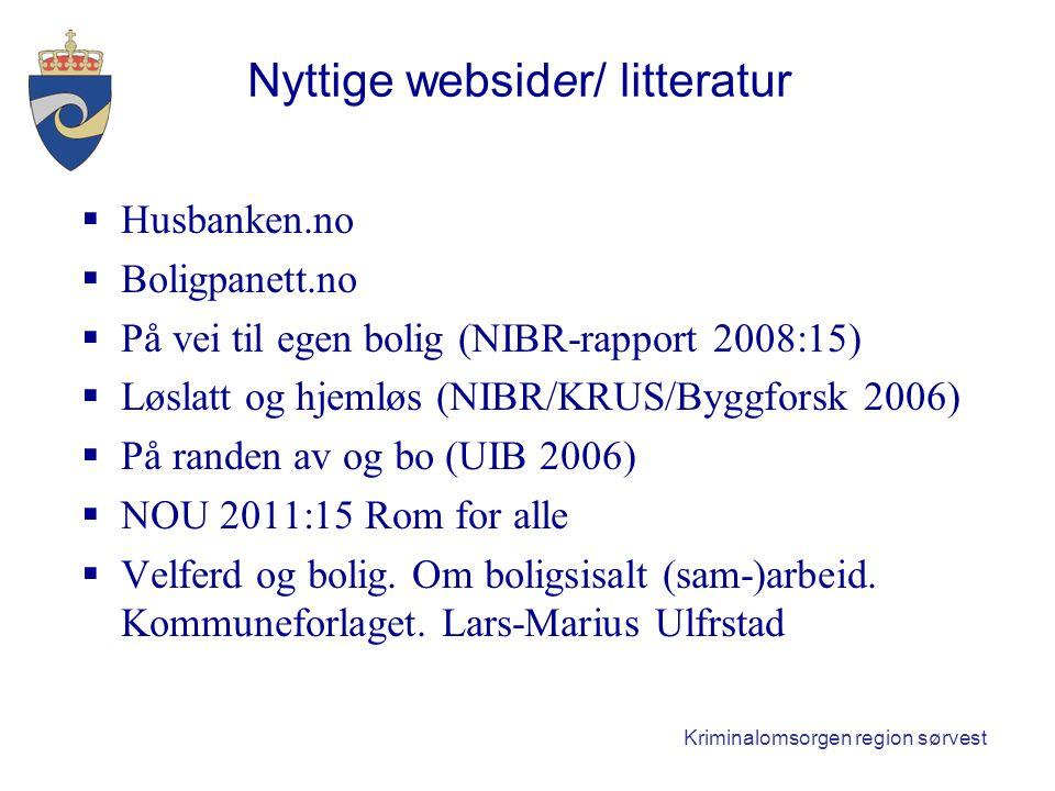 Nyttige websider/ litteratur