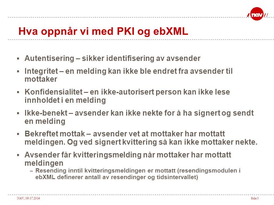 Hva oppnår vi med PKI og ebXML
