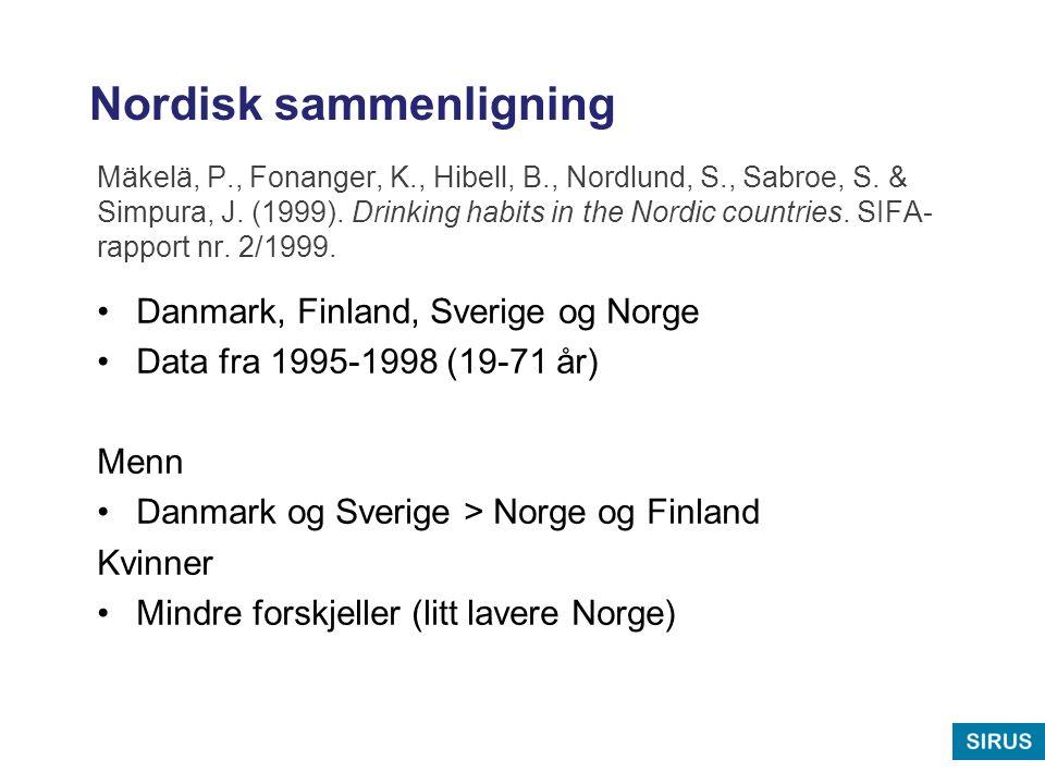 Nordisk sammenligning