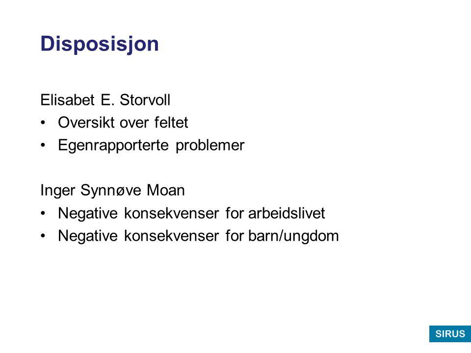 Disposisjon Elisabet E. Storvoll Oversikt over feltet