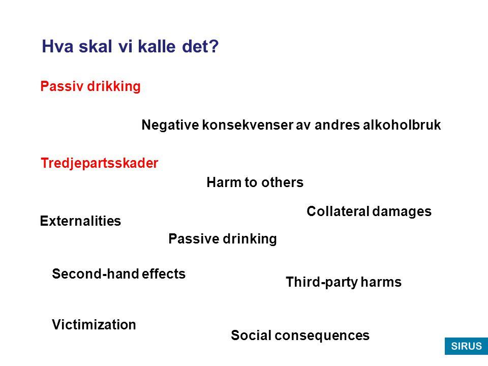 Hva skal vi kalle det Passiv drikking