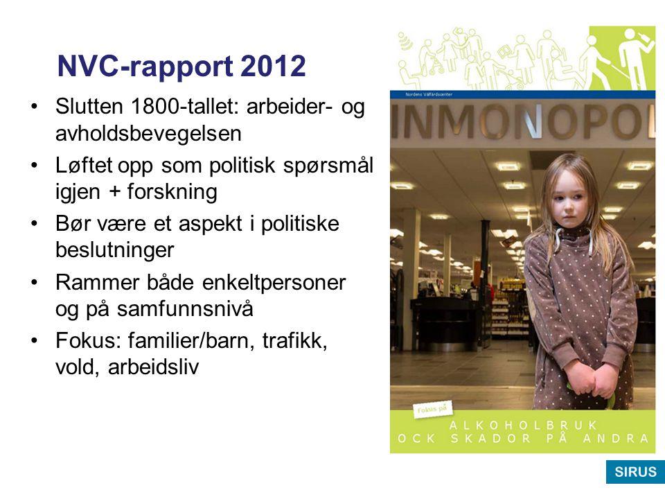NVC-rapport 2012 Slutten 1800-tallet: arbeider- og avholdsbevegelsen