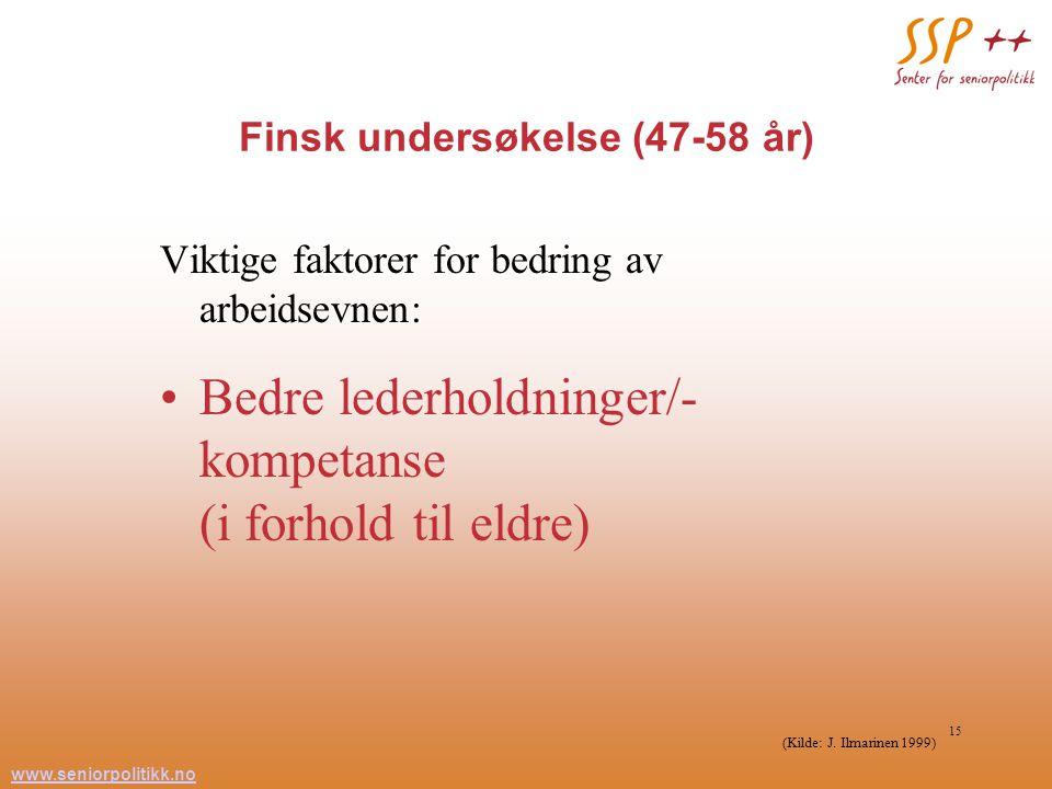 Finsk undersøkelse (47-58 år)