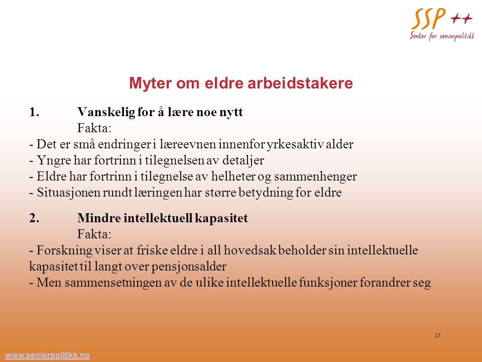 Myter om eldre arbeidstakere