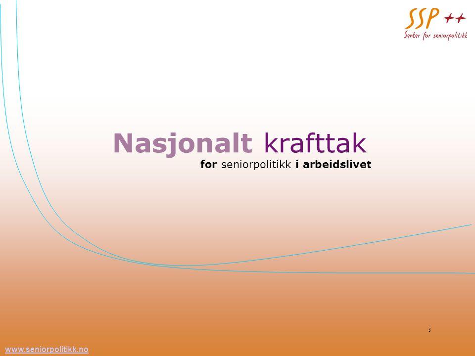 Nasjonalt krafttak for seniorpolitikk i arbeidslivet