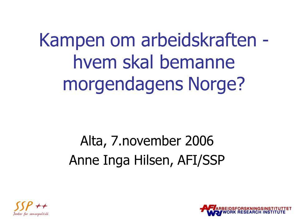 Kampen om arbeidskraften - hvem skal bemanne morgendagens Norge