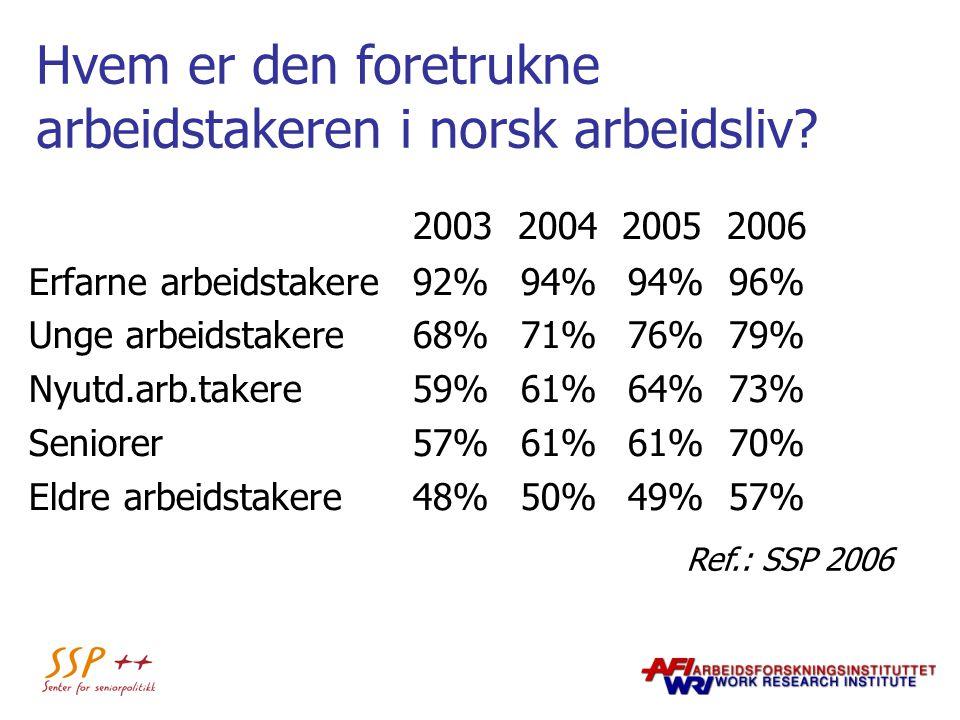 Hvem er den foretrukne arbeidstakeren i norsk arbeidsliv