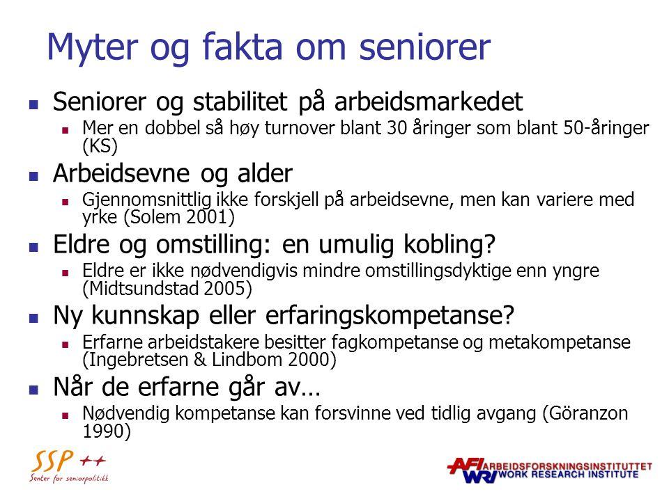 Myter og fakta om seniorer