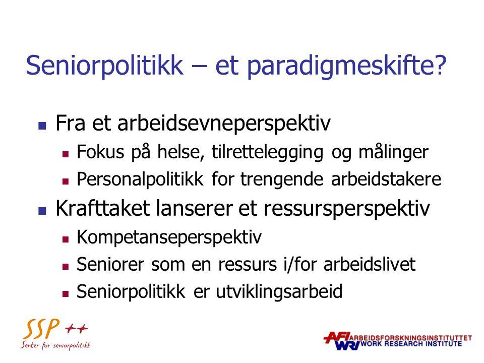 Seniorpolitikk – et paradigmeskifte
