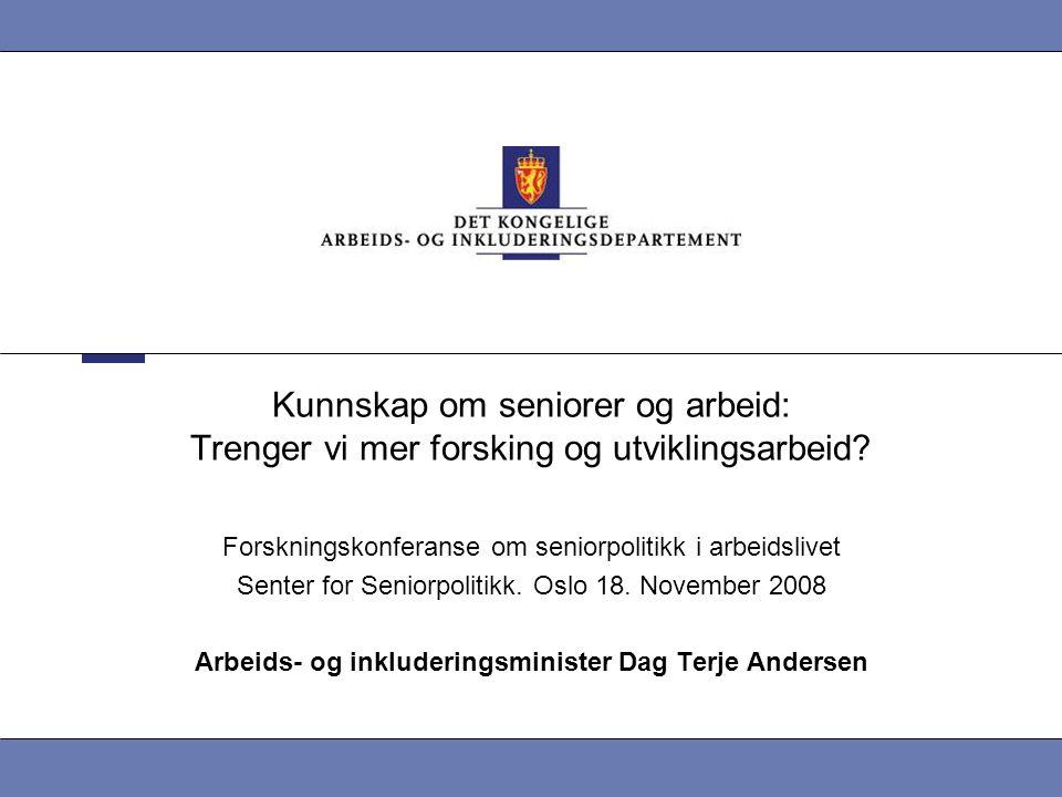 Arbeids- og inkluderingsminister Dag Terje Andersen
