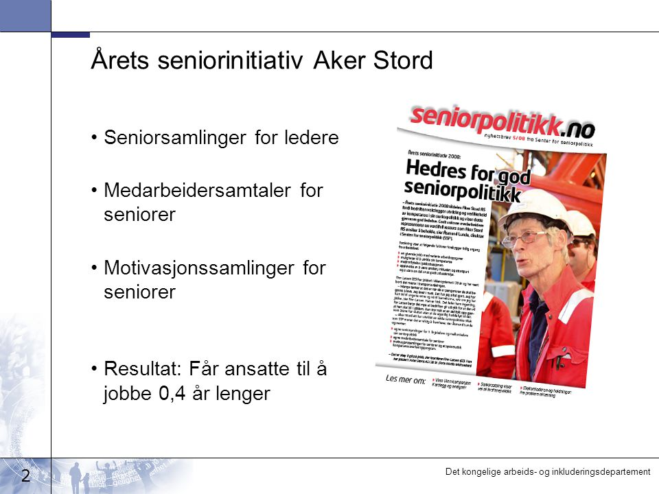 Årets seniorinitiativ Aker Stord