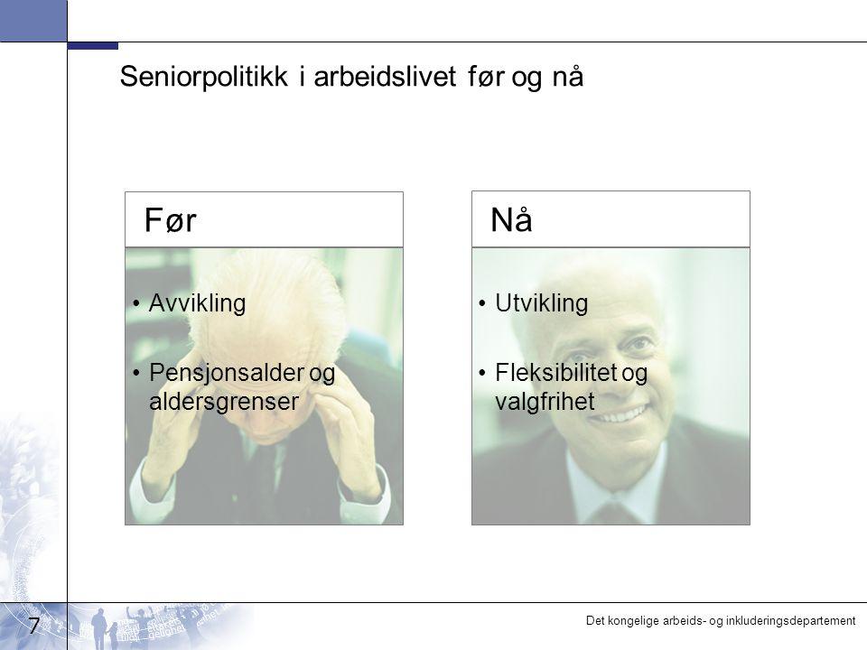 Seniorpolitikk i arbeidslivet før og nå