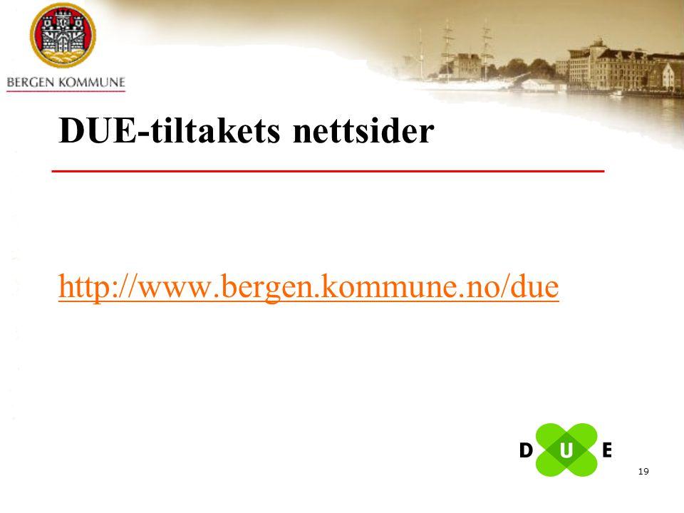 DUE-tiltakets nettsider