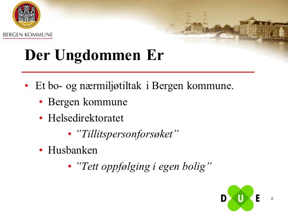 Der Ungdommen Er Et bo- og nærmiljøtiltak i Bergen kommune.