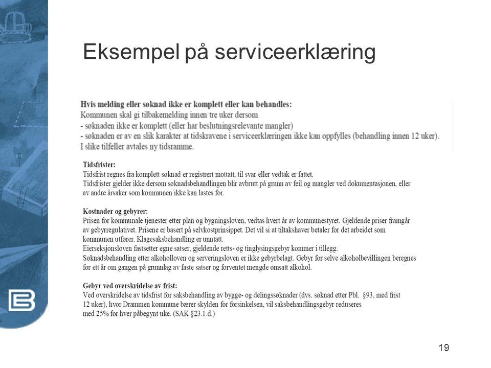 Eksempel på serviceerklæring