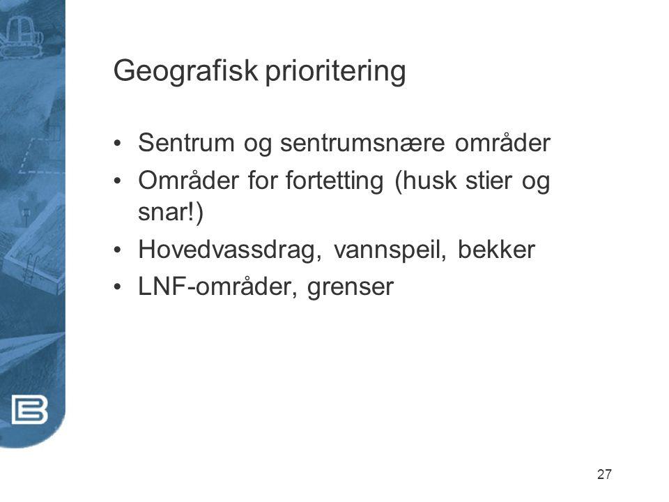 Geografisk prioritering
