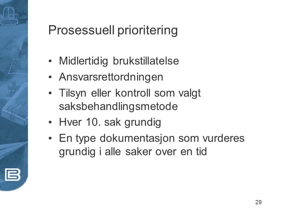 Prosessuell prioritering