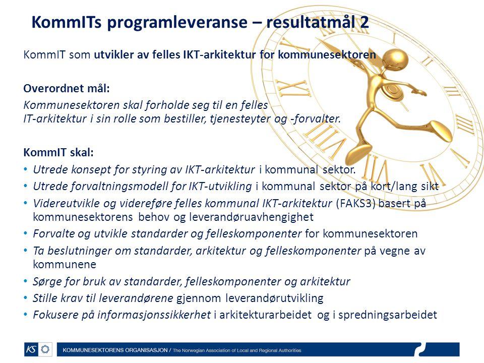 KommITs programleveranse – resultatmål 2