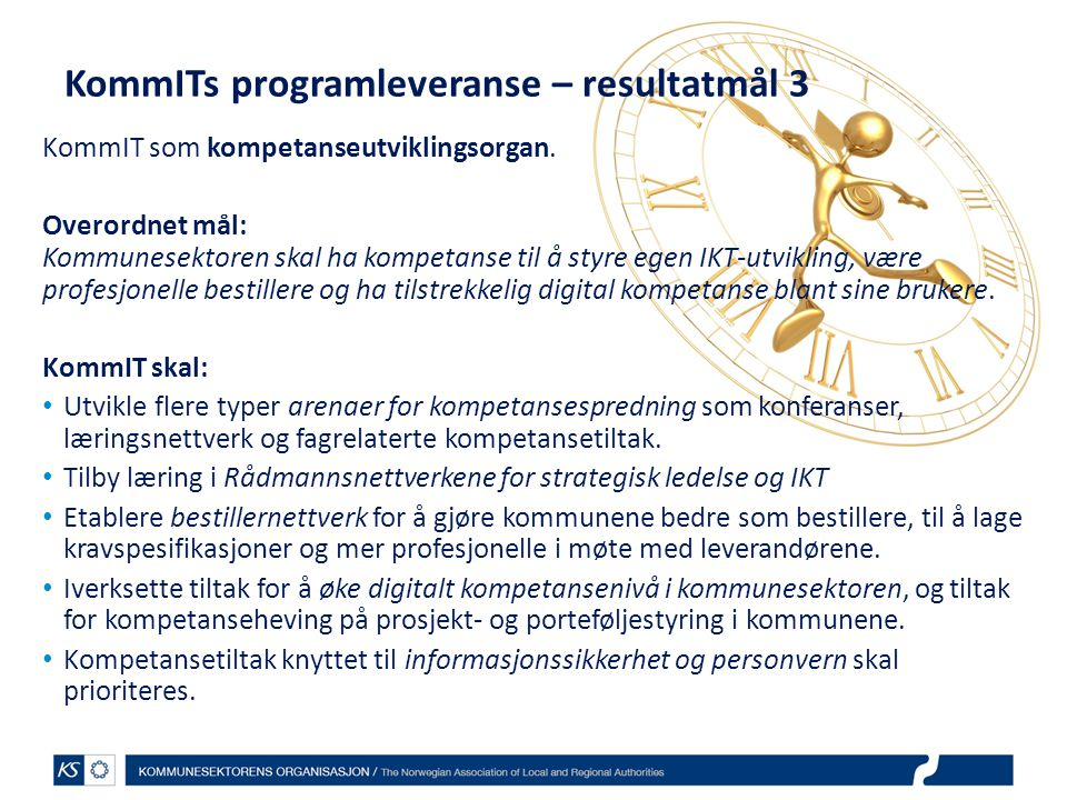 KommITs programleveranse – resultatmål 3