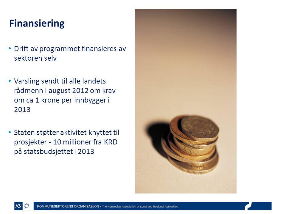 Finansiering Drift av programmet finansieres av sektoren selv