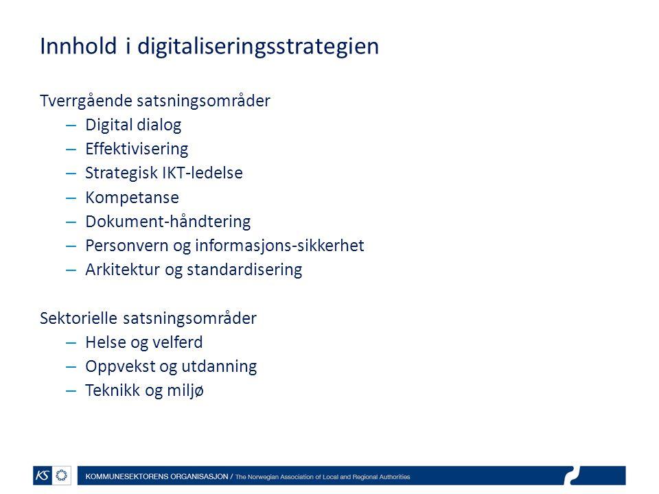 Innhold i digitaliseringsstrategien