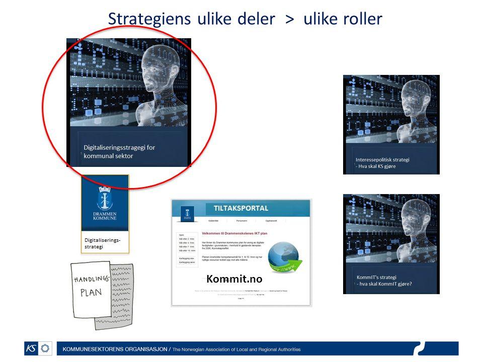 Strategiens ulike deler > ulike roller