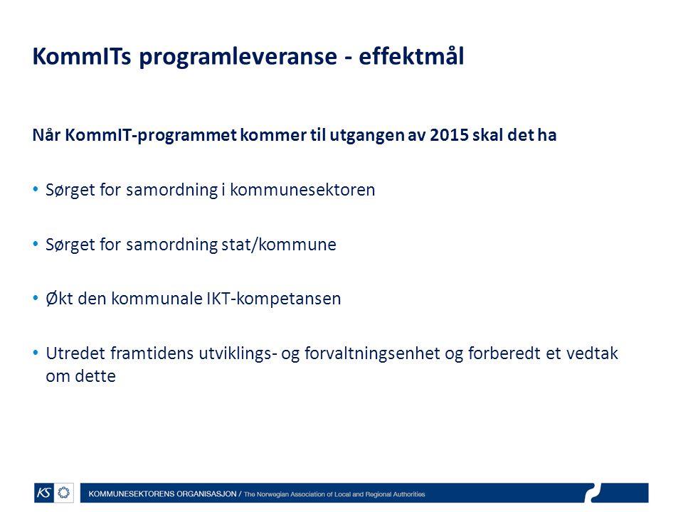 KommITs programleveranse - effektmål