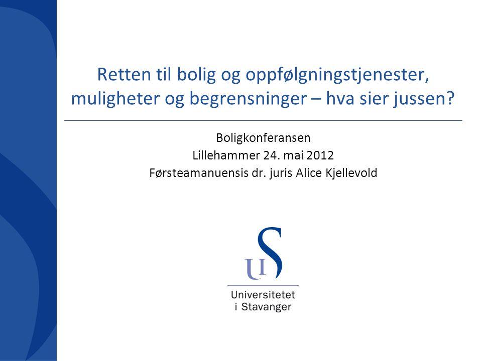 Førsteamanuensis dr. juris Alice Kjellevold