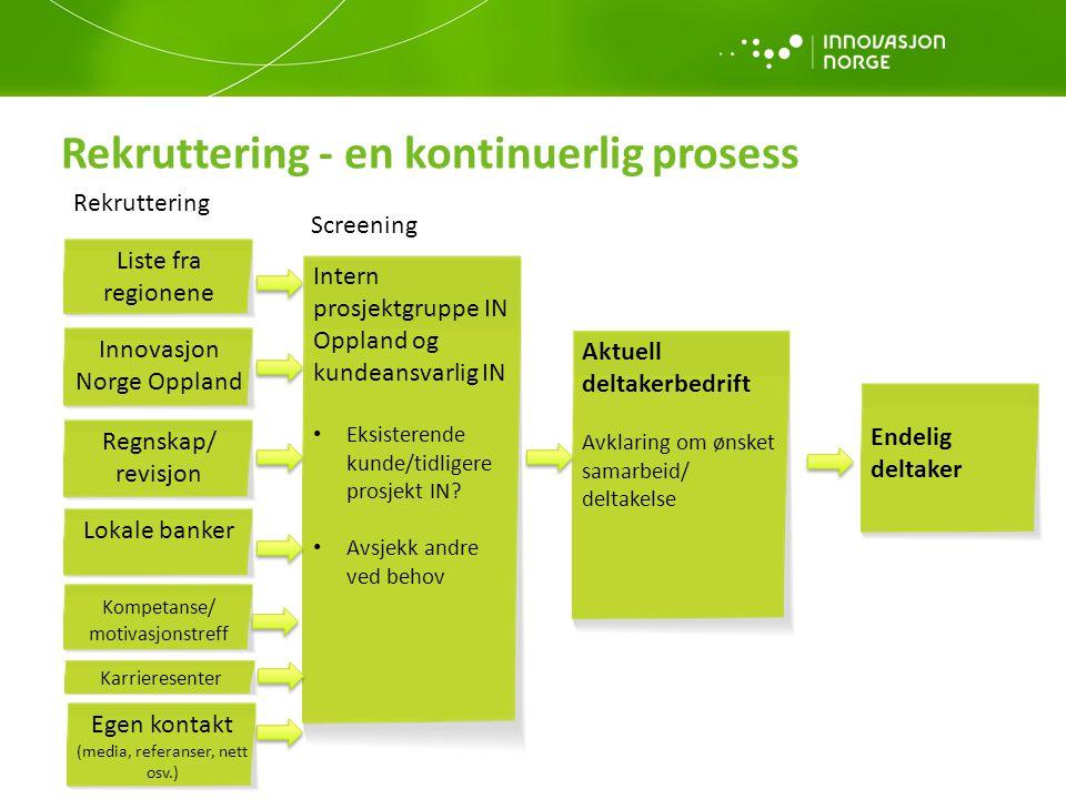 Rekruttering - en kontinuerlig prosess