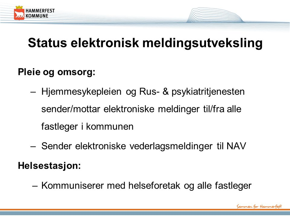 Status elektronisk meldingsutveksling