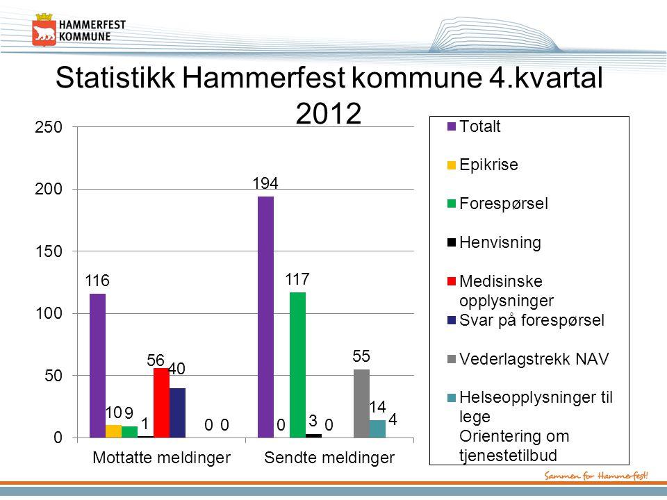 Statistikk Hammerfest kommune 4.kvartal 2012
