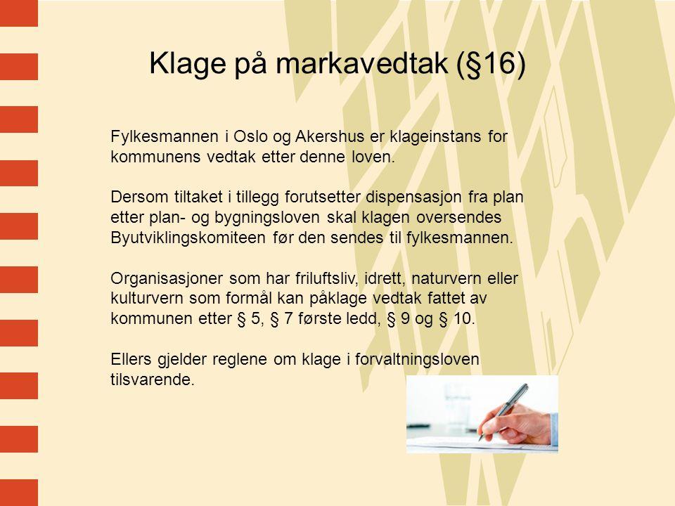 Klage på markavedtak (§16)