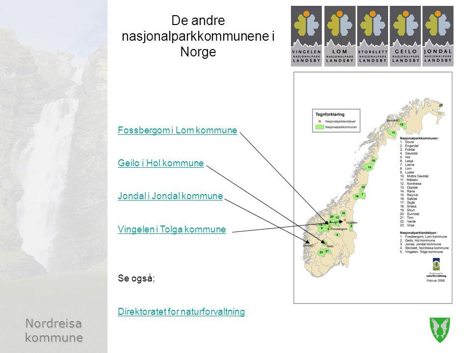 De andre nasjonalparkkommunene i Norge