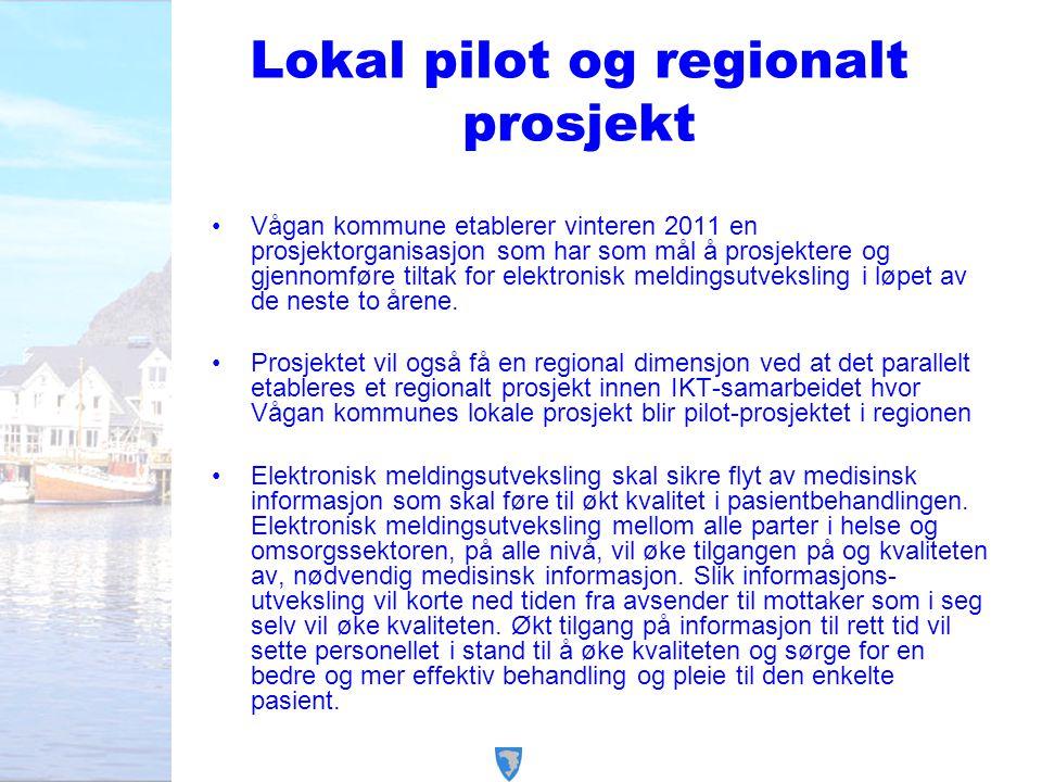 Lokal pilot og regionalt prosjekt
