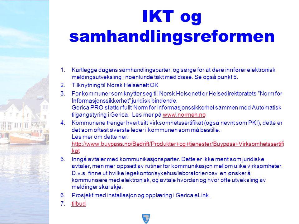 IKT og samhandlingsreformen